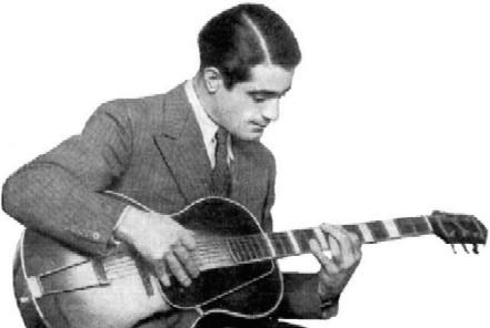 Al endorsing the Gibson L-5 guitar (thanks Mike Hart)