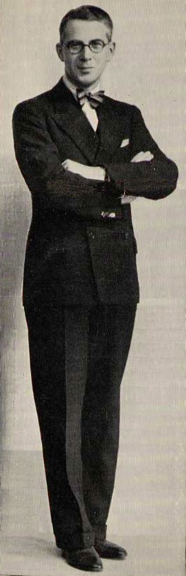 Henry in 1935, card presented with 'Radio Review'