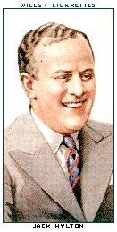 Jack Hylton on a cigarette card