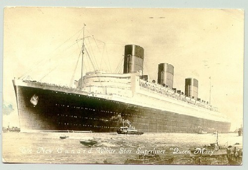 another postcard of the Queen Mary