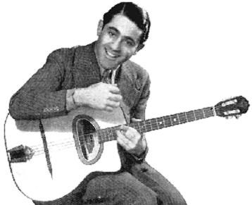 Al Bowlly advertising the Selmer/Eddie Freeman guitar